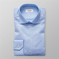 Eton Skjorte Lyseblå (Light Blue Herringbone Twill Shirt)