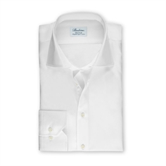 Stenstrøms Skjorte Hvid (White Fitted Body Shirt In Twill)