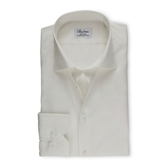 Stenstrøms Skjorte OffWhite (Off-White Fitted Body Shirt In Twill)