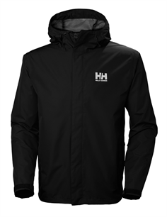 Helly Hansen Regnjakke Sort (HH Seven J Jacket)