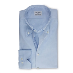 Stenstrøms Skjorte Lyseblå (Light Blue Slimline Shirt In Pinpoint Oxford)